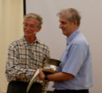 Photo of Robert receiving his award.